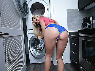 Blonde sexy teen chick Madelyn sucks and fucks her boyfriend